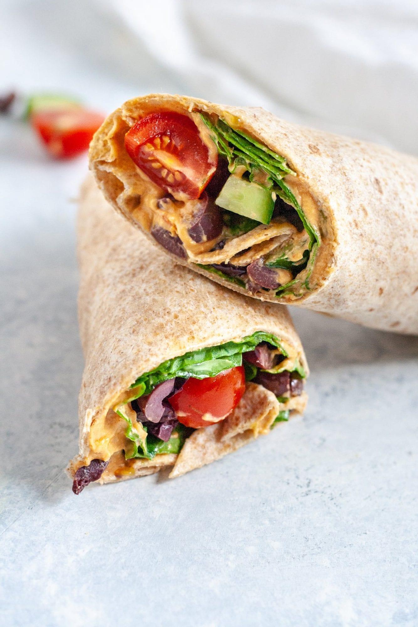 easy vegan wraps